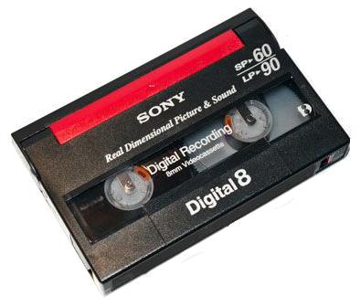 cassette HI8 8mm digital8 a numériser